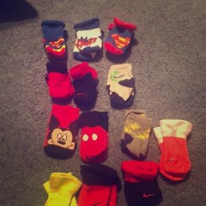 Infant  socks . Assorted cartoon and sports brands
